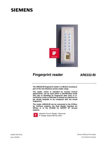 AR6332-BI - Fingertip reader