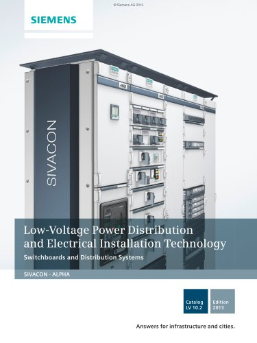 Catalog LV 10.2 - 2013 Switchboards and Distribution Systems