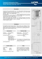 Flush-Mounted Housing 3/UP-A