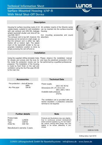 Surface-Mounted Housing 3/AP-B