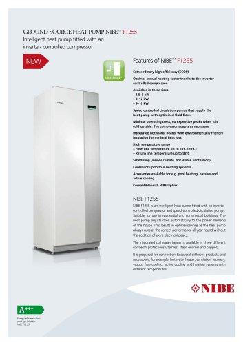 GROUND SOURCE HEAT PUMP NIBE™ F1255