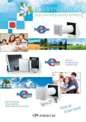 Single-room energy recovery ventilators TwinFresh