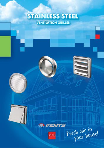 Stainless steel ventilation grilles