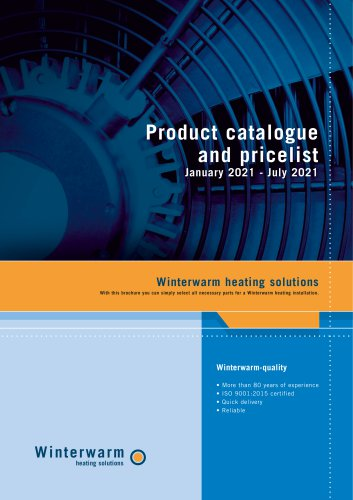 Product catalogue  and pricelist