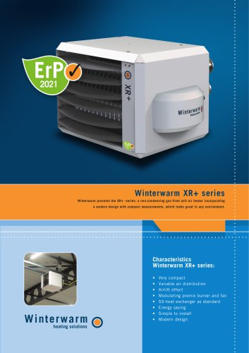 Winterwarm XR+ gasfired unit air heaters