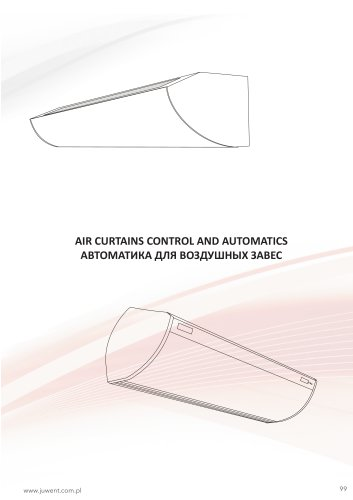 Air curtain control and automatics