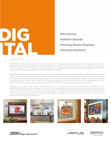 Digital Signage Flyer