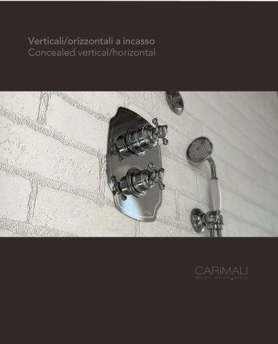 Concealed vertical & horizontal mixers