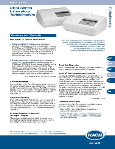 2100 Series Laboratory Turbidimeters
