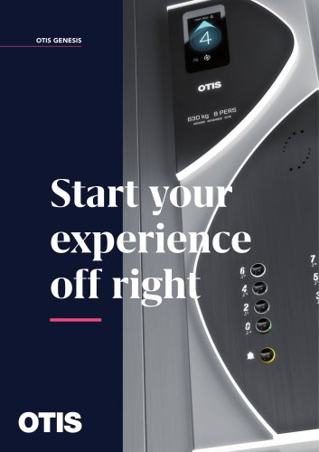 OTIS GENESIS - Start your experience off right