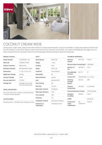 COCONUT CREAM WIDE