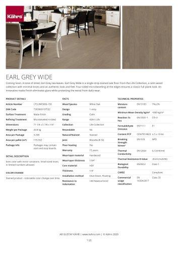 EARL GREY WIDE