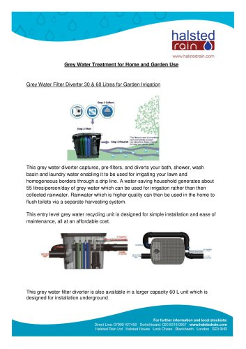 Grey Water Treatment for Home and Garden Use