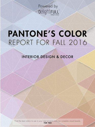 Pantone Color Report for Fall Season