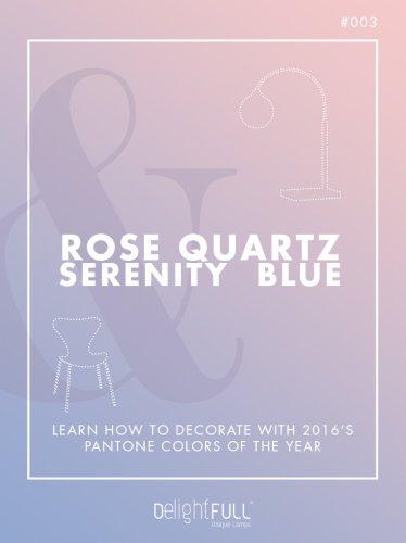 Rose Quartz & Serenity Blue
