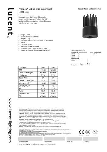Lucent LED50 ONE Super Spot Module