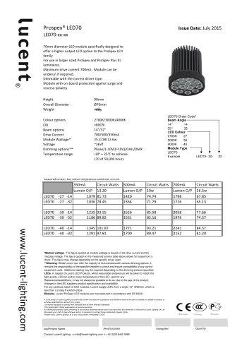 Lucent LED70 Module