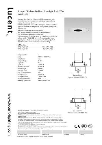Pinhole 90 Fixed