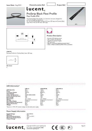 ProStrip Black   Flexi Profile