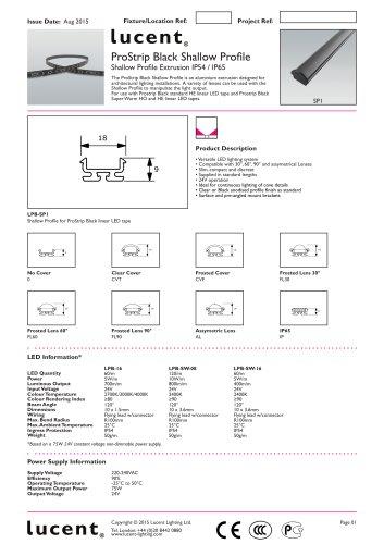 ProStrip Black   Shallow Profile