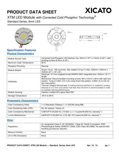 Xicato XTM 9mm LED Module