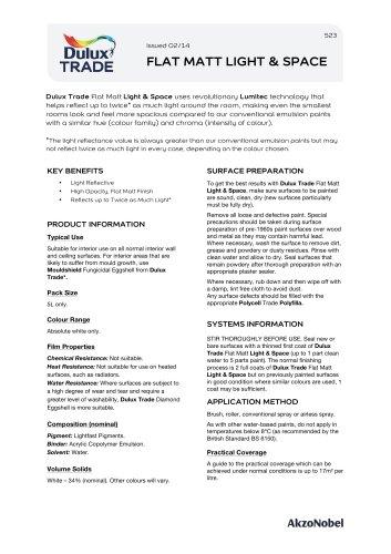Dulux Trade FLAT MATT LIGHT & SPACE