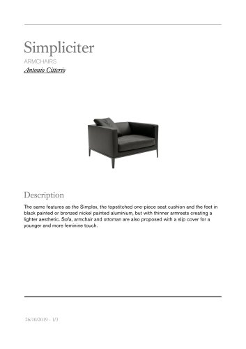 simpliciter armchairs