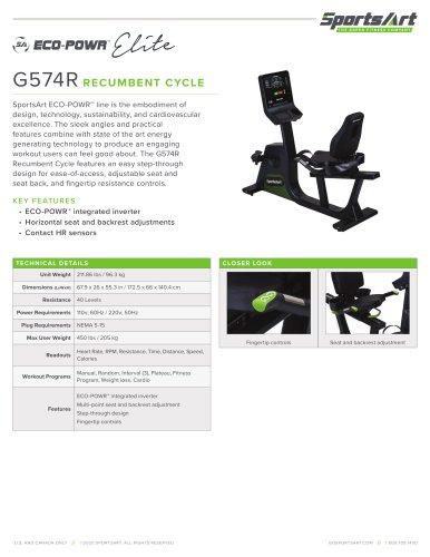 G574R RECUMBENT CYCLE