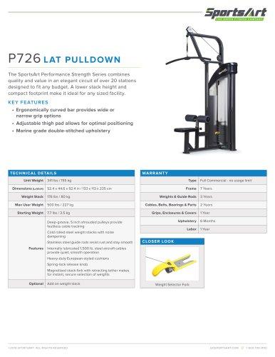 P726 LAT PULLDOWN