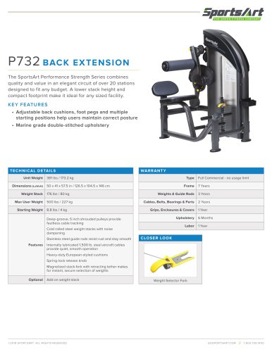 P732 BACK EXTENSION