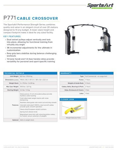 P771 CABLE CROSSOVER