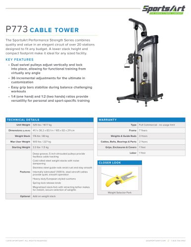 P773 CABLE TOWER