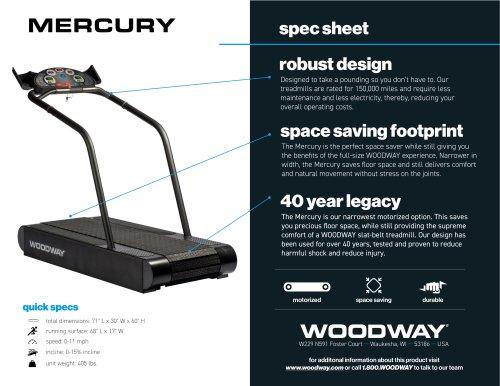 MERCURY spec sheet