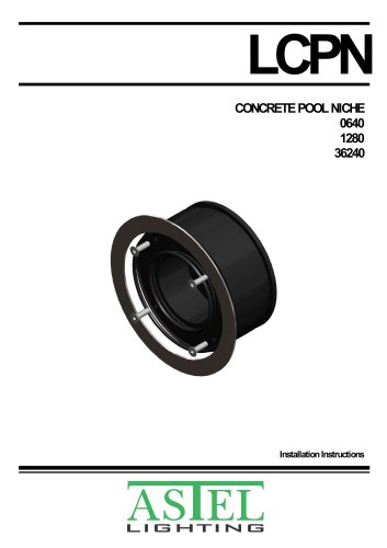 Concrete Pool Niche LCPN