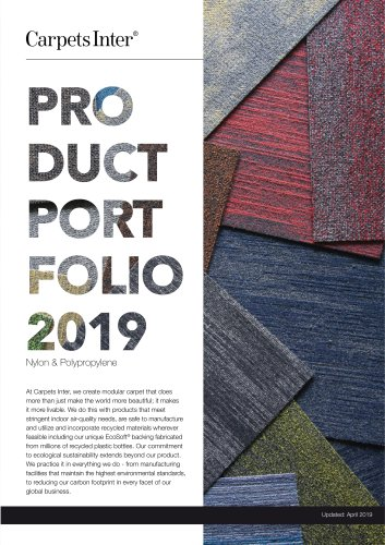 Carpet Tile Portfolio 2019