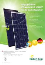 Polykristallines PV-Modul HS P SOLRIF® für die Dachintegration