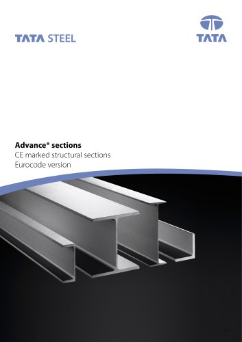 Advance sections CE marked structural sections Eurocode version