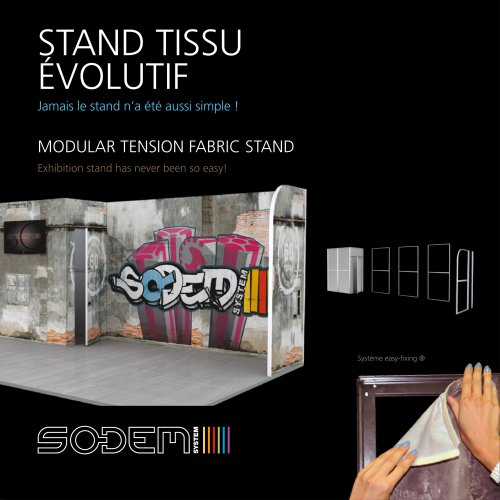 Modular tension fabric stand