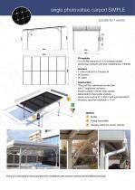 "Single photovoltaic carport ""SIMPLE"""