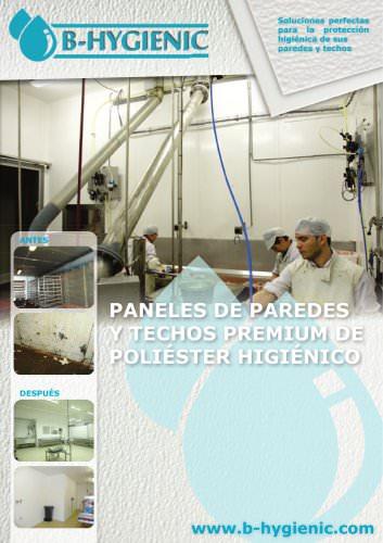 PANELES DE PAREDES  Y TECHOS PREMIUM DE  POLIÉSTER HIGIÉNICO