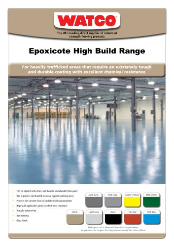 Epoxicote High Build Range