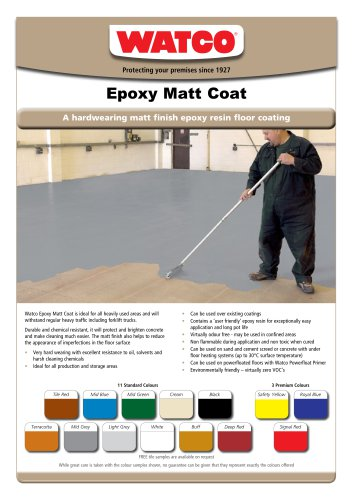 Epoxy Matt Coat