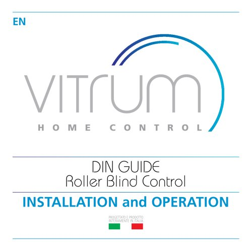 Vitrum II DIN Shutters and Curtains Control Wireless