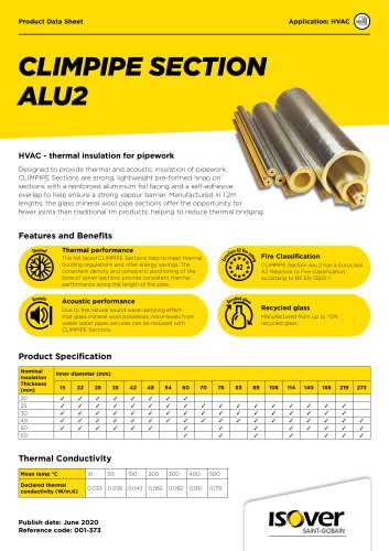 ISOVER CLIMPIPE Section Alu2