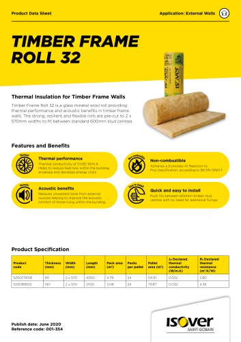 ISOVER Timber Frame Roll 32