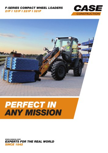 F-SERIES COMPACT WHEEL LOADERS