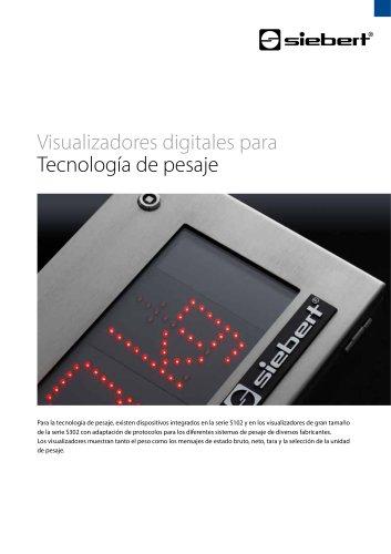Visualizadores digitales para Tecnología de pesaje