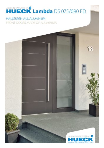 HUECK Lambda DS 075/090 FD - Front Doors