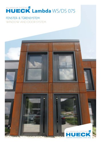 HUECK Lambda WS/DS 075 - Window and Door System