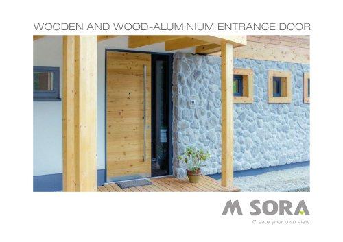 WOODEN AND WOOD-ALUMINIUM ENTRANCE DOOR